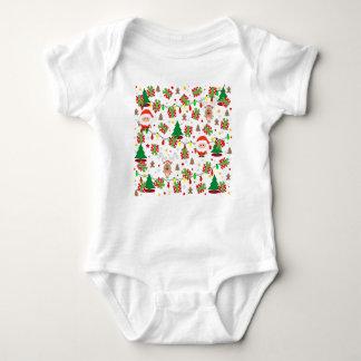 Santa and Rudolph pattern Baby Bodysuit