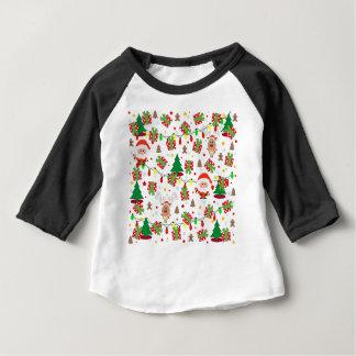 Santa and Rudolph pattern Baby T-Shirt