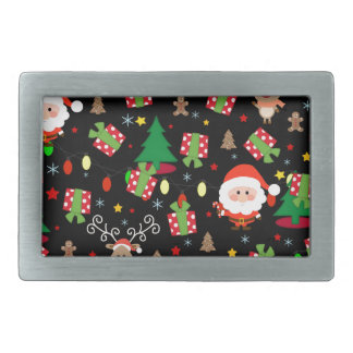 Santa and Rudolph pattern Belt Buckle