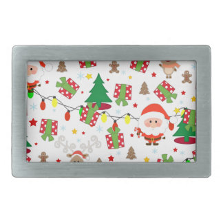 Santa and Rudolph pattern Belt Buckles