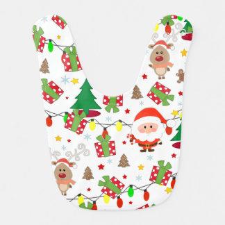 Santa and Rudolph pattern Bib