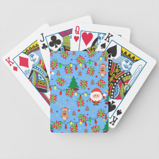 Santa and Rudolph pattern Bicycle Playing Cards