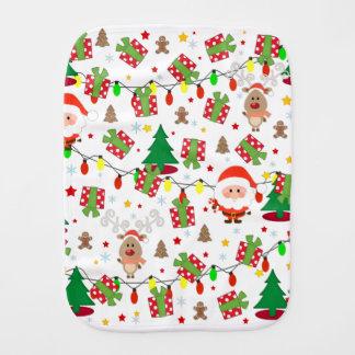 Santa and Rudolph pattern Burp Cloth