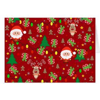 Santa and Rudolph pattern Card