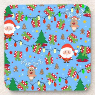 Santa and Rudolph pattern Coaster