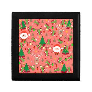 Santa and Rudolph pattern Gift Box
