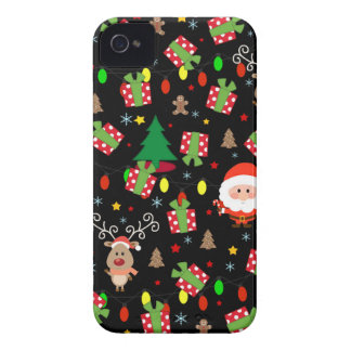 Santa and Rudolph pattern iPhone 4 Case-Mate Cases