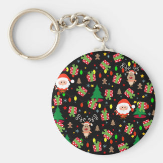 Santa and Rudolph pattern Keychain