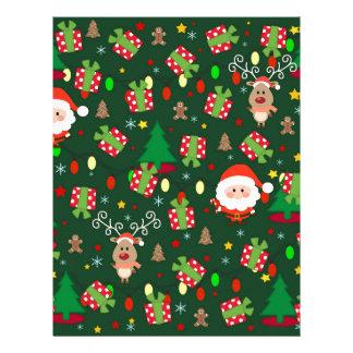 Santa and Rudolph pattern Letterhead
