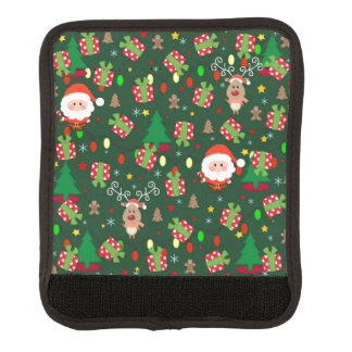 Santa and Rudolph pattern Luggage Handle Wrap