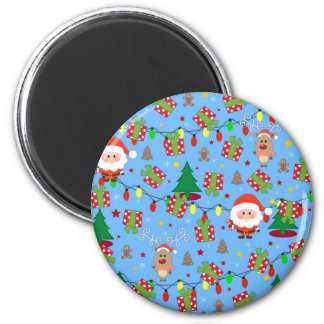 Santa and Rudolph pattern Magnet
