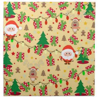 Santa and Rudolph pattern Napkin
