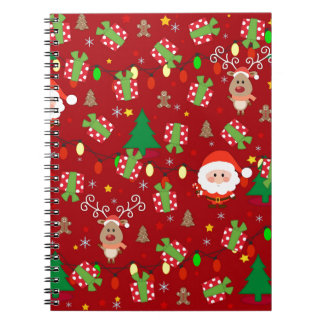 Santa and Rudolph pattern Notebook