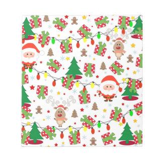 Santa and Rudolph pattern Notepad