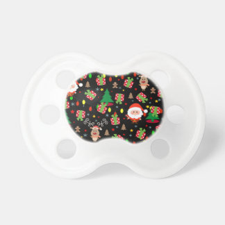 Santa and Rudolph pattern Pacifier