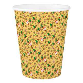 Santa and Rudolph pattern Paper Cup