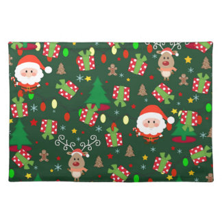 Santa and Rudolph pattern Placemat
