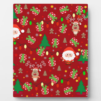 Santa and Rudolph pattern Plaque