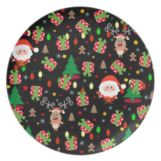 Santa and Rudolph pattern Plate