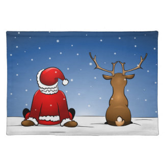 Santa and Rudolph Placemat