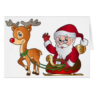 Santa_and_Rudolph_PNG_Clipart_Image Card