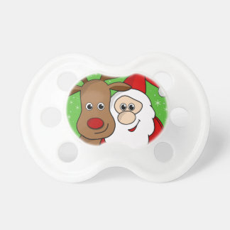 Santa and Rudolph sefie Baby Pacifier
