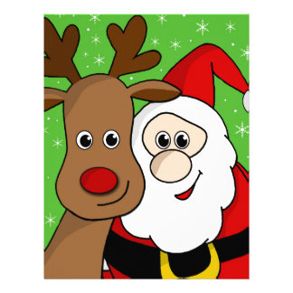Santa and Rudolph sefie Customized Letterhead