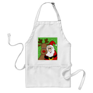 Santa and Rudolph sefie Standard Apron