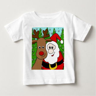 Santa and Rudolph selfie Baby T-Shirt