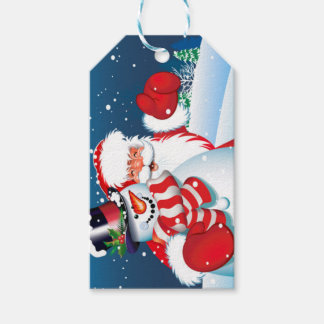 Santa and Showman Gift Tag
