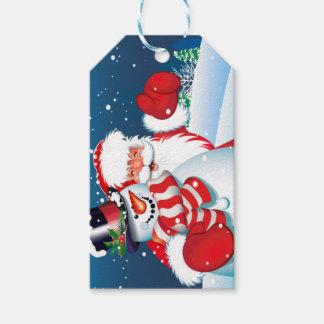 Santa and Showman Gift Tag Pack Of Gift Tags