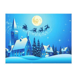 Santa and Sleigh Canvas Print