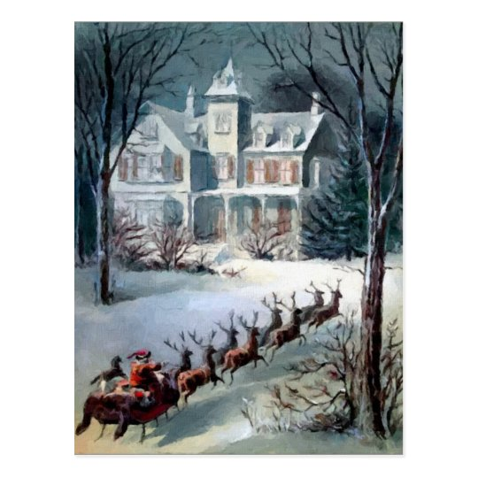 Santa and Sleigh Postcard