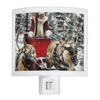 Santa and team nite lights