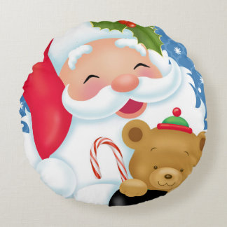 Santa and Teddybear Pillow