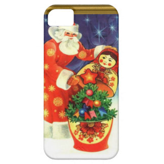 Santa and the matryoshka case for the iPhone 5