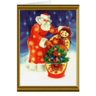 Santa and the matryoska card
