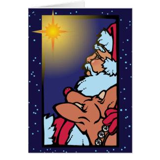 Santa and the Star Card