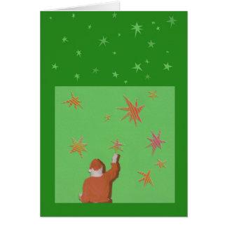 Santa and the Stars Greeting Card