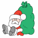 Santa and Toy Sack Photo Cut Out