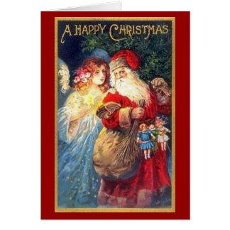 Santa & Angel - Christmas Card