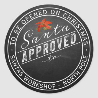 Santa Approved Gift Label From North Pole Workshop