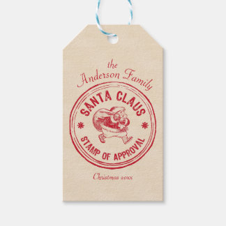 Santa Approved - Personalize It - Funny Gift Tags