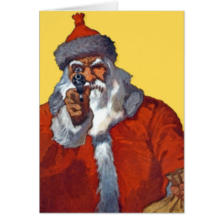 Santa Armed Ready Cards