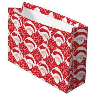 Santa Art Gift Bag - Large