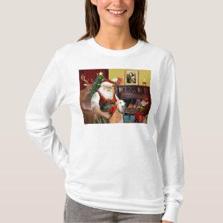 Santa At Home Greyhounds (two) T-Shirt