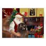 Santa At Home-Newfoundland (brown) Card