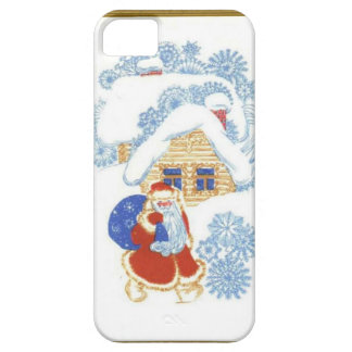 Santa at the Christmas cottage iPhone 5 Case