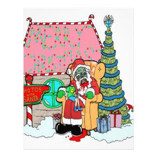 Santa at the Mall Letterhead Design