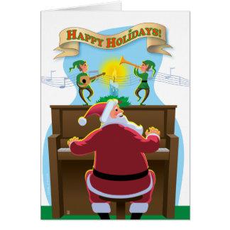 Santa at the Piano Holiday Card